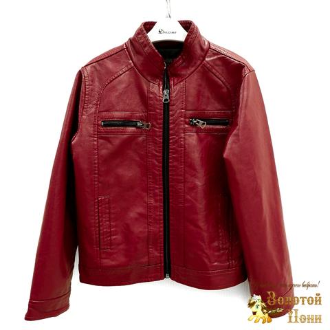 Куртка экокожа мальчику (6-12) 200318-W1801.1
