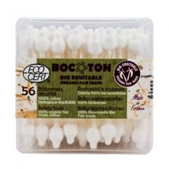 Ватные палочки с ограничителем, BOCOTON, 56 шт.
