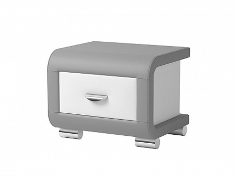 Тумба Орматек Orma Soft 3 Серый с Белым