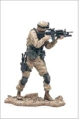 Милитари серия 1 фигурка Пустынный пехотинец Армии США
