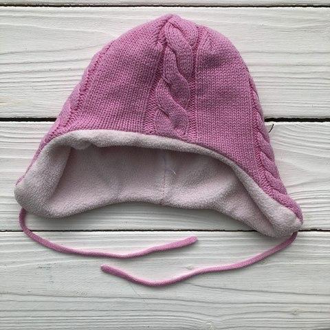 Тепленькая шапочка на малышку до 12 мес