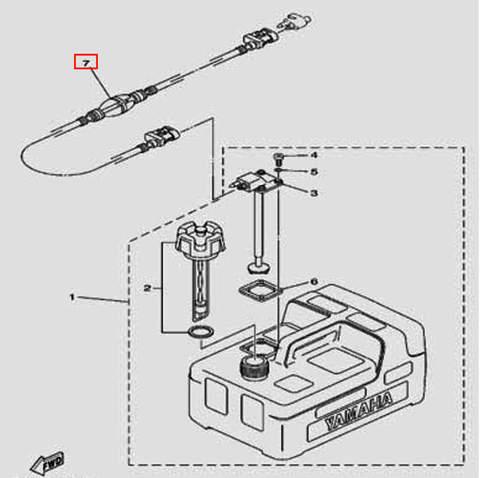 Шланг с грушей для лодочного мотора F5 Sea-PRO(20-7)