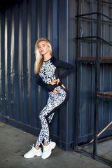 Леггинсы Euphoria White leopard