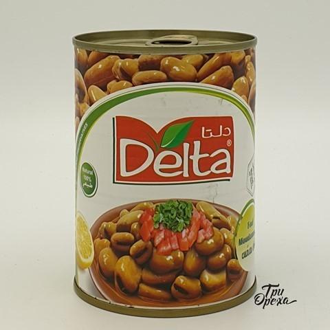 Бобы варенные консервированный Delta, 380 гр