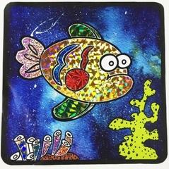 Коралловый риф-аппликация цветной фольгой, MH003