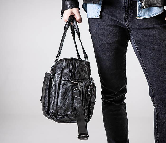 BAG552 Кожаная сумка для поездок с длинными ручками фото 02