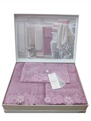 Набор полотенец  3 предмета LAURETTE - ЛАУРЕТТЕ / Maison Dor (Турция)