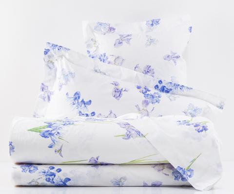 Постельное белье 2 спальное евро Mirabello Iris-1 белое