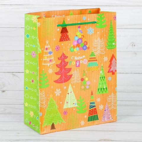 Пакет «Чудесные ёлочки», 18×23×8 см