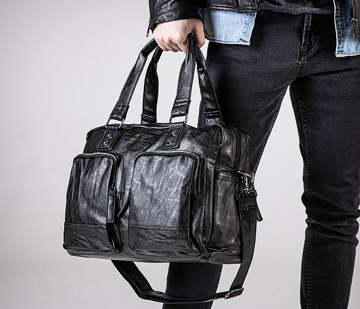 BAG552 Кожаная сумка для поездок с длинными ручками фото 03