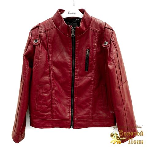 Куртка экокожа мальчику (6-12) 200318-W1802.1