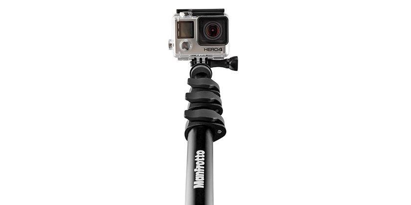 Монопод-штатив Manfrotto Compact Xtreme 2-в-1 с камерой