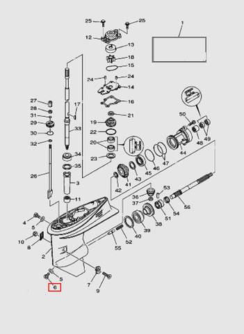 Пробка сливная для лодочного мотора T40 Sea-PRO (23-6)