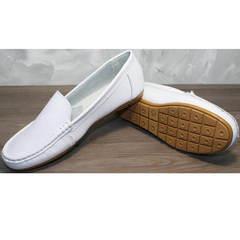 Мокасины классические женские AESD 902 White