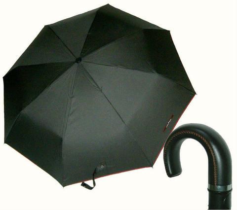 Купить онлайн Зонт складной Maison Perletti 16213-Solid piping design в магазине Зонтофф.
