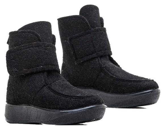 Валеная обувь Сапоги войлочные короткие черные 14523черн.png