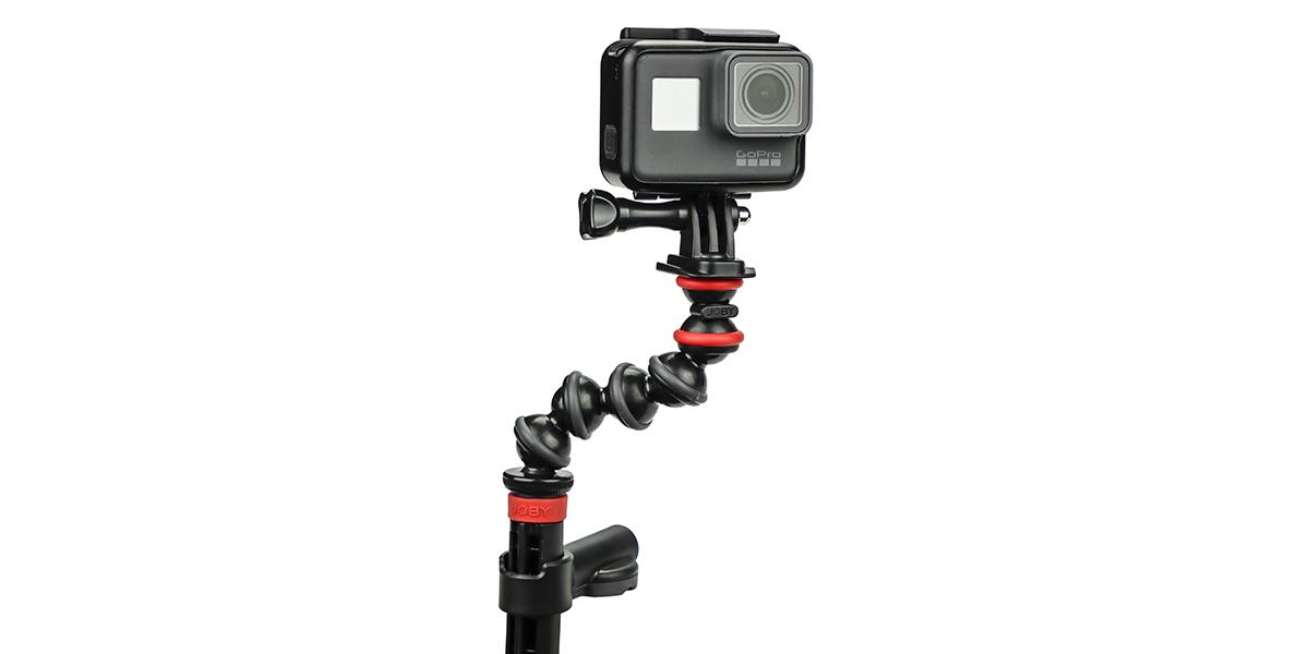 Крепление-струбцина JOBY Action Clamp & Gorillapod Arm с камерой