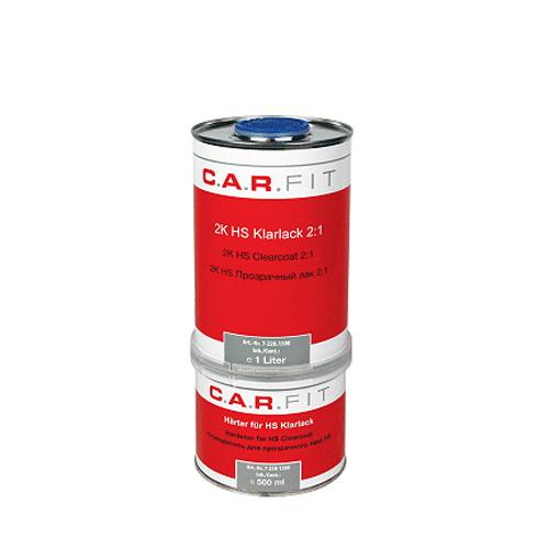 Глянцевый автомобильный лак 2:1 HS (акриловый) комплект (1л+0,5л) CAR FIT