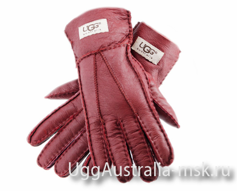 UGG Women's Glove Metallic Red