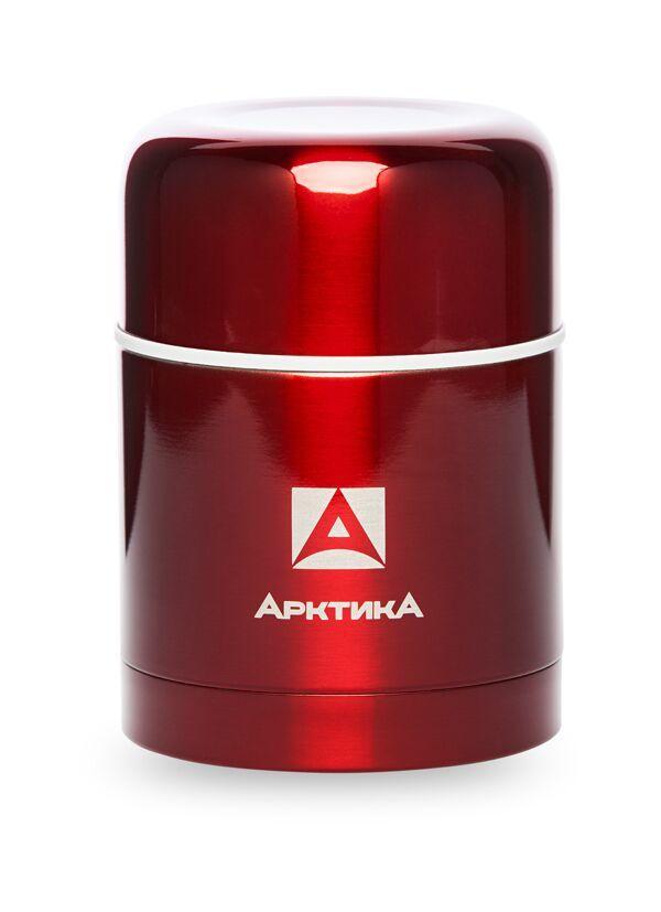 Термос для еды Арктика (0,5 литра) с супер-широким горлом, красный*
