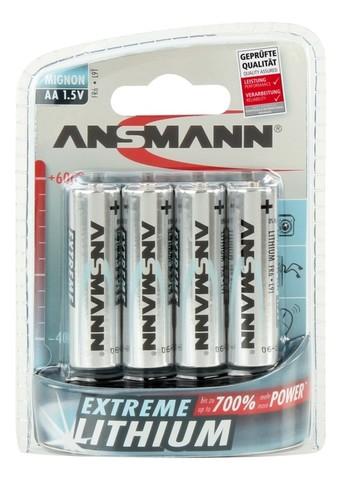 Батарейка литиевая AA ANSMANN 1.5V - 4 шт