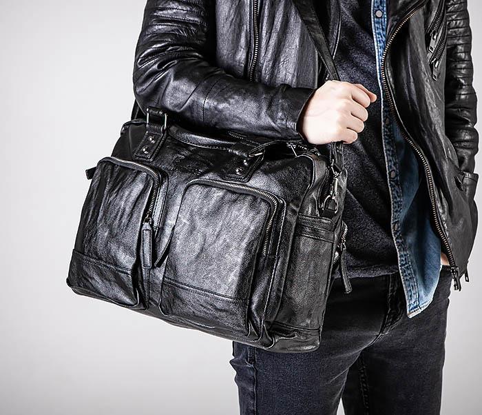 BAG552 Кожаная сумка для поездок с длинными ручками фото 05