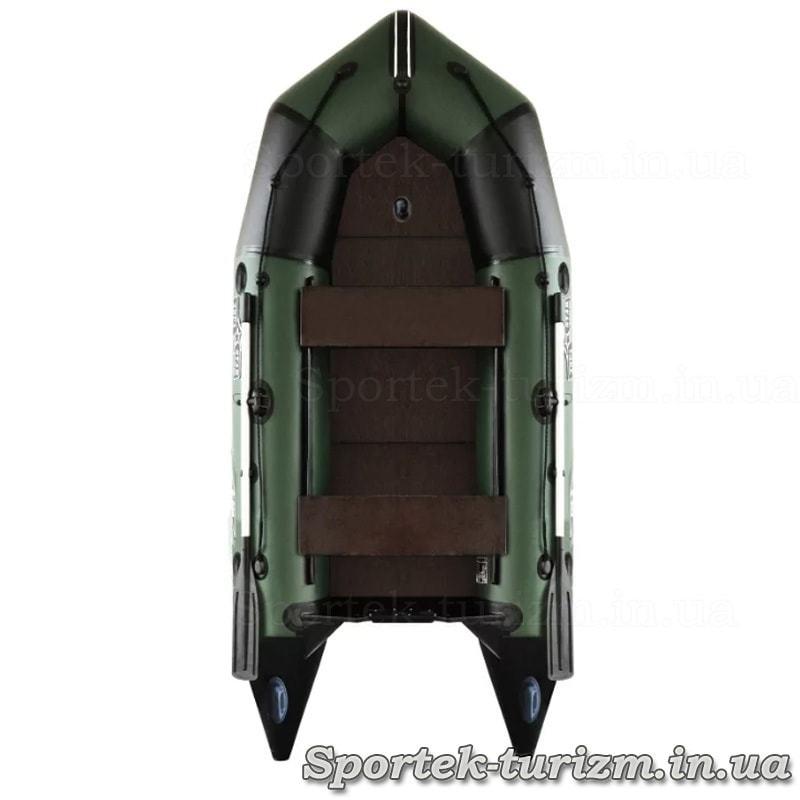 Надувная трехместная моторная резиновая лодка Aquastar С-330