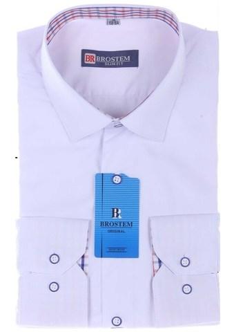 BROSTEM Рубашка для мальчика школьная 8037-2d белая
