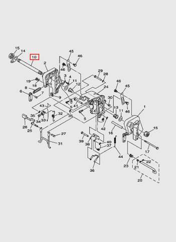 Болт кронштейна  для лодочного мотора T15, OTH 9,9 SEA-PRO (13-10)
