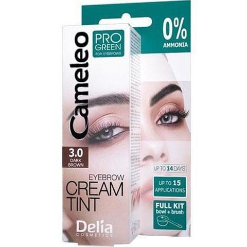 Delia Cosmetics Крем-краска для бровей тон 3.0 темно-коричневый CAMELEO PRO GREEN