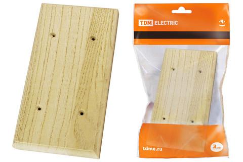 Накладка на бревно деревянная универсальная НБУ 1Пх2 95х195 мм, сосна TDM