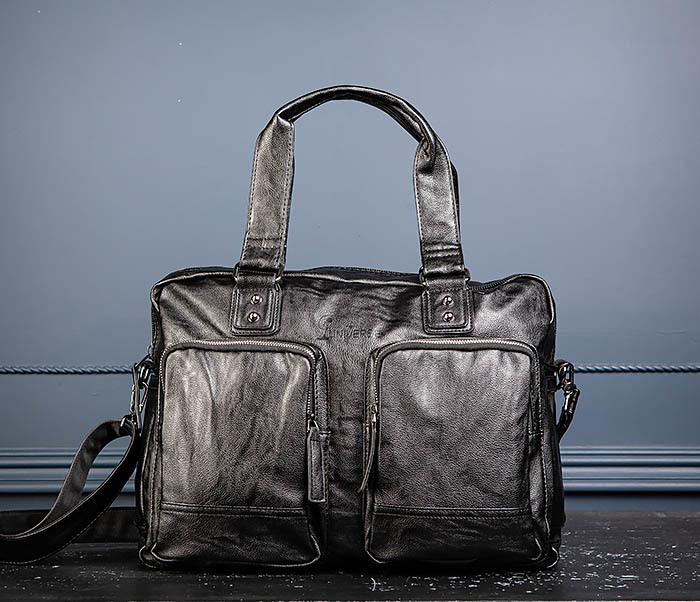 BAG552 Кожаная сумка для поездок с длинными ручками фото 06