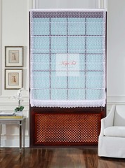Римская штора.Тюль сетка с вышивкой Веточки (белый)