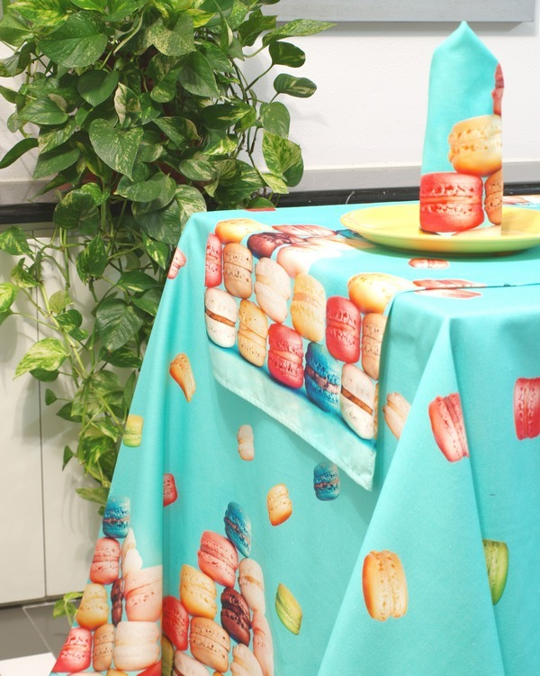Скатерти Скатерть 140x240 Viscontea di Milano Macaron beij skatert-140x240-viscontea-di-milano-macaron-beij-italiya.JPG