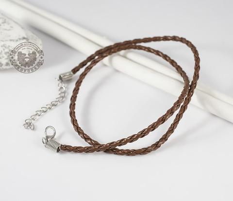PL261-2 Светло-коричневый кожаный шнур с застежкой (44 см)