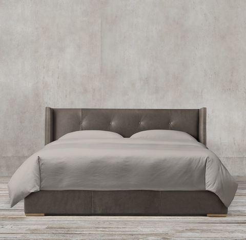 Tompkins Shelter Box-Tufted Leather Bed
