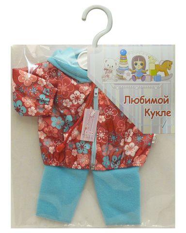 Костюм с курткой - Брусника. Одежда для кукол, пупсов и мягких игрушек.