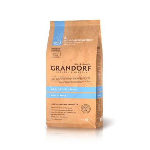Grandorf Dog All Breeds сухой корм для собак всех пород (белая рыба с рисом) 3кг