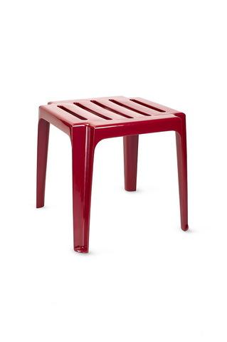 Пластиковый столик к шезлонгу (бордо)