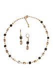 Комплект Arlecchino Cubo золотистый (серьги, ожерелье)