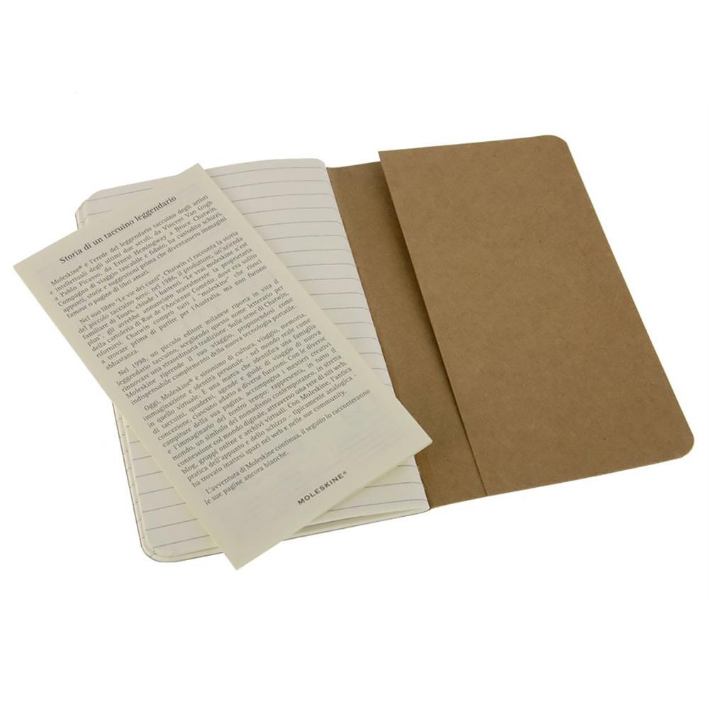 Набор 3 блокнота Moleskine Cahier Journal Pocket, цвет бежевый, в линейку