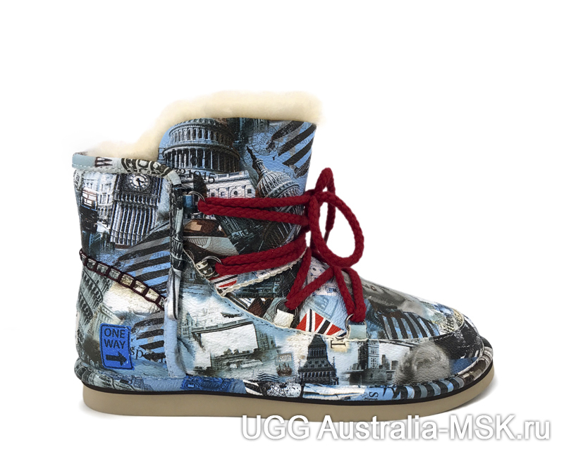 UGG & Jimmy Choo Travel Fur Blue