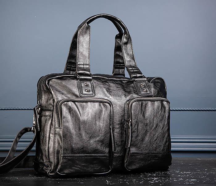 BAG552 Кожаная сумка для поездок с длинными ручками фото 07