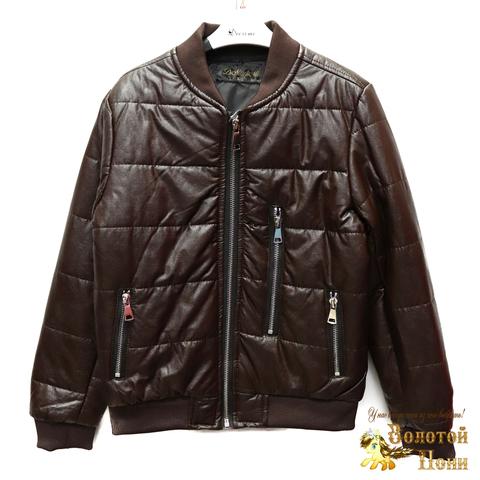 Куртка экокожа мальчику (4-10) 200318-W26.1