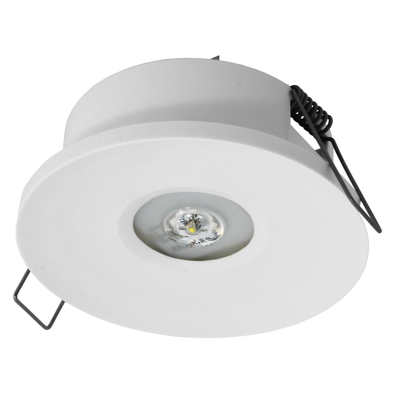 Встраиваемые светодиодные аварийные светильники IP65/20 или IP20 для открытых зон AXP Awex