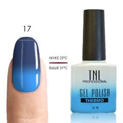 Термо гель-лак TNL 17 - кобальт/голубой, 10 мл