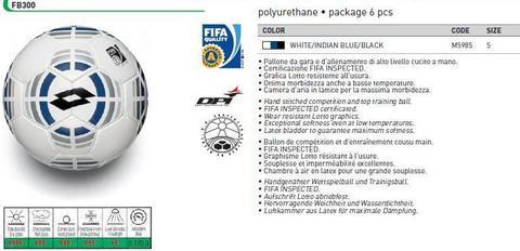 Мяч футбольный Lotto FB 300