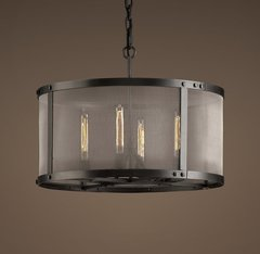 Riveted Mesh Round Chandelier 24