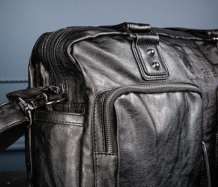 BAG552 Кожаная сумка для поездок с длинными ручками фото 08