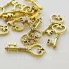 """Подвеска """"Ключик с сердцем"""" 45х18 мм (цвет - античное золото)"""